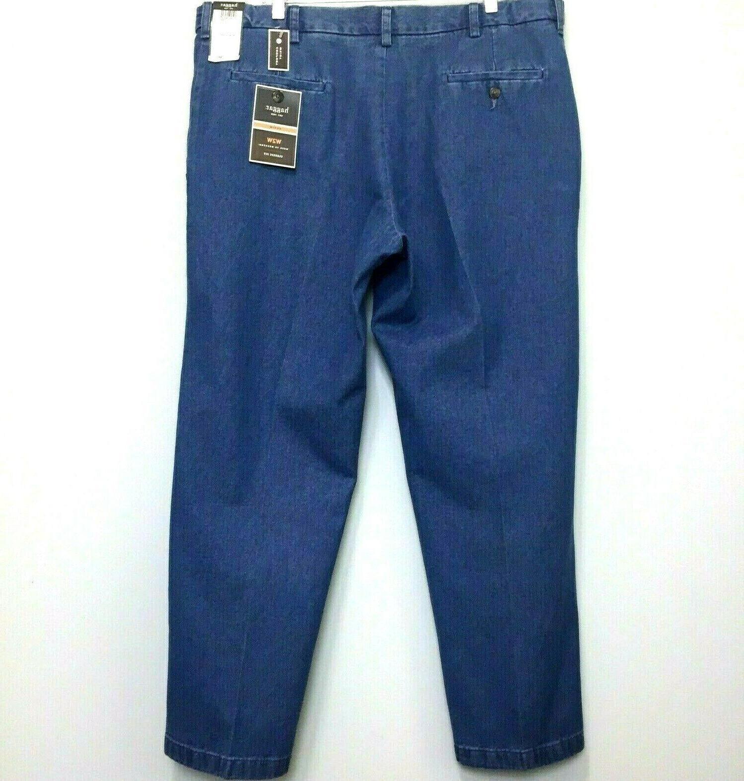 Haggar Men's Work Weekend Fit Jeans Comfort Waist x