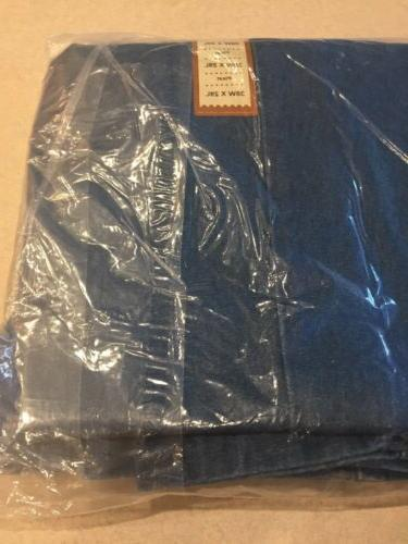 Haggar Men's Work to Weekend Classic Fit Pleated Denim Jeans 38W 29L