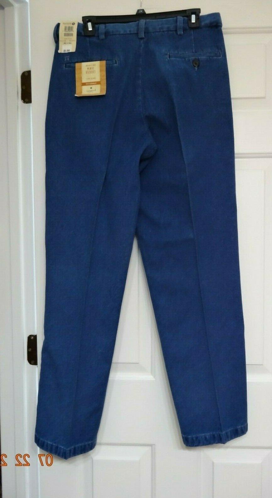 Haggar Classic Fit Comfort Men Blue 33/32