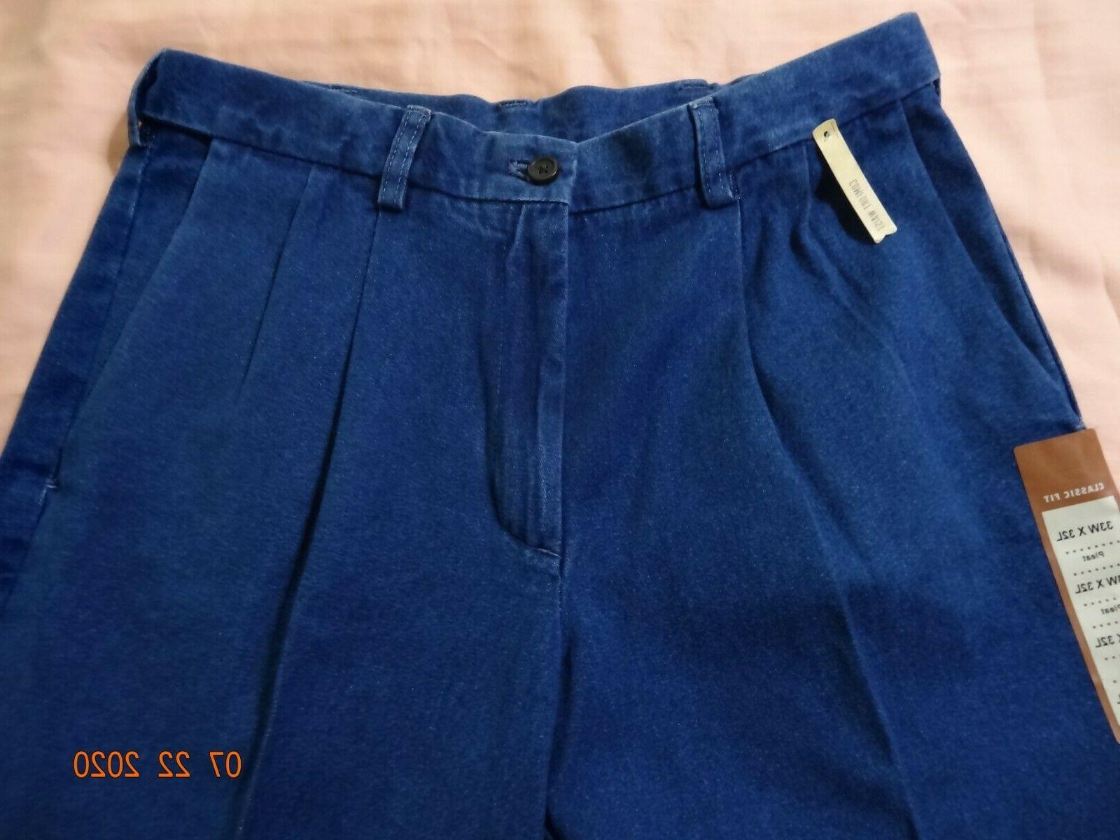 "Haggar ""NEW"" Comfort Waist Men Jeans Blue 33/32"