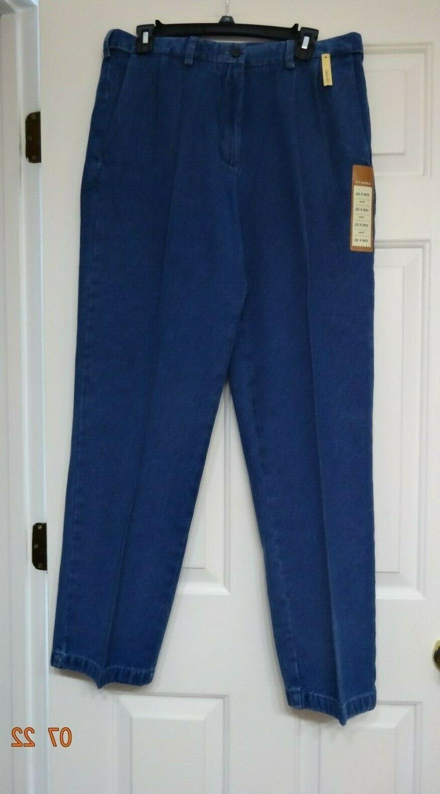Haggar Comfort Waist Denim Men Jeans Blue Sz 33/32