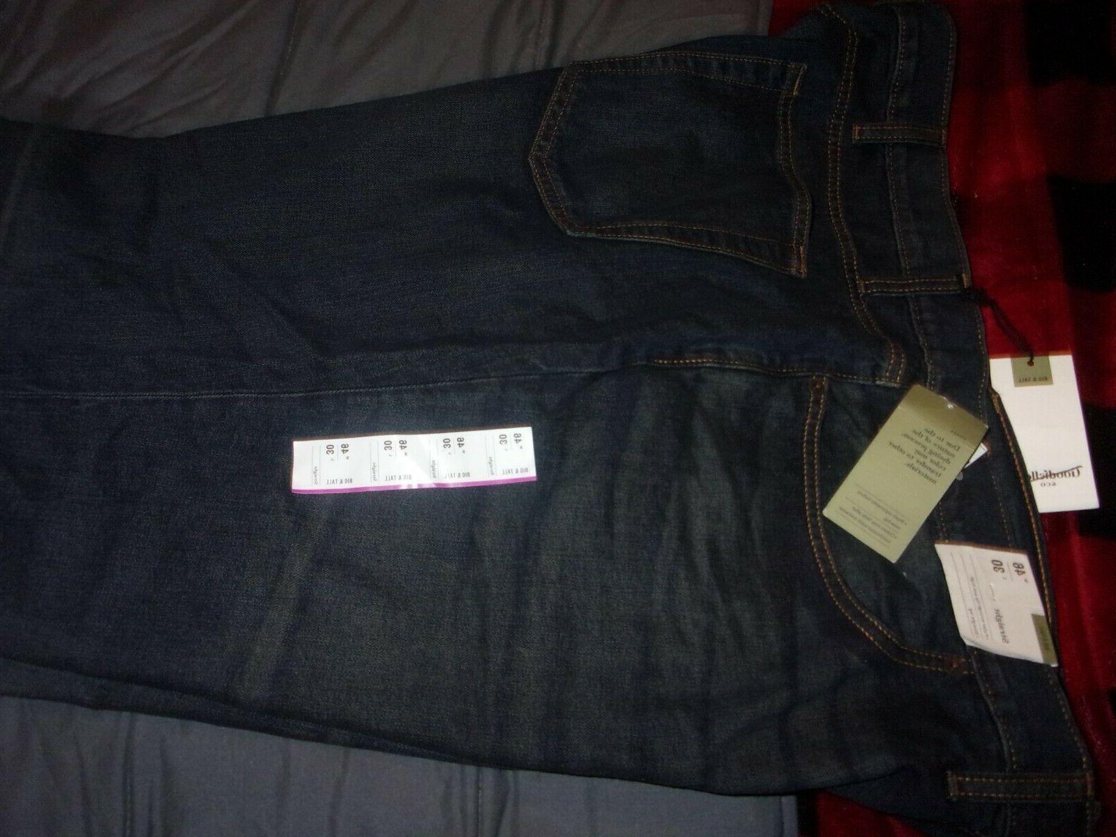 new denim straight leg flex jeans big