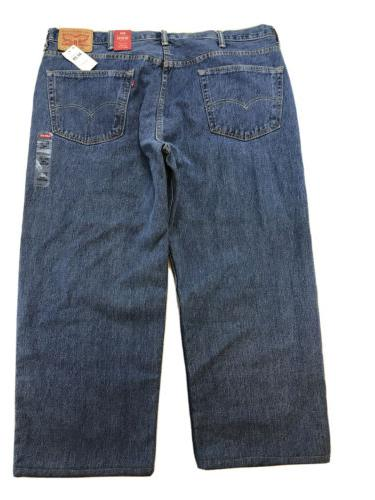 NEW Medium Wash Relaxed Fit Straight Jeans Sz 44X29