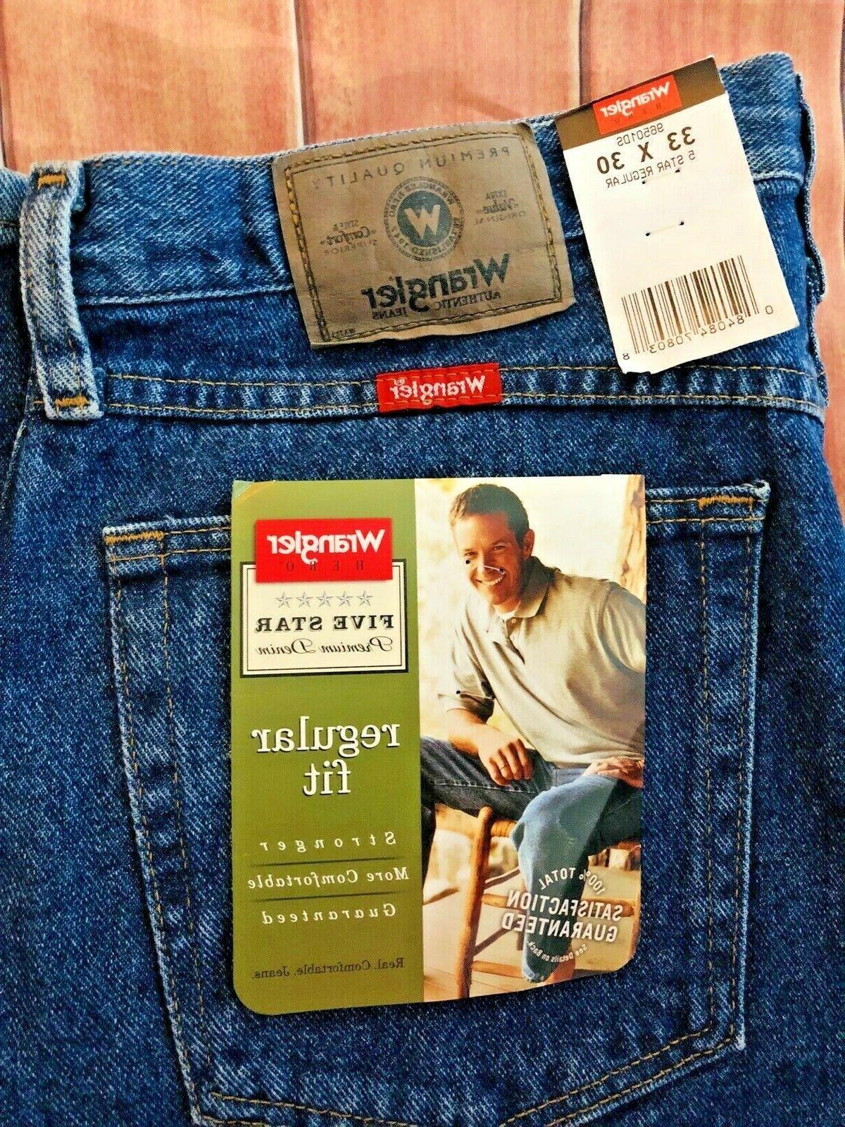 New Men's Regular Fit Star Denim Jeans NWT