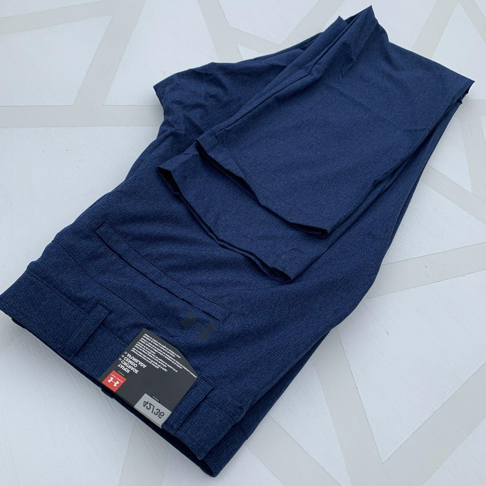 NEW Under Armour Men's Size 42x36 Loose Match Vented Navy Blue