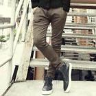New Men Slim Fit Boot Cut Denim Jean Lace Up Harm stretchy B