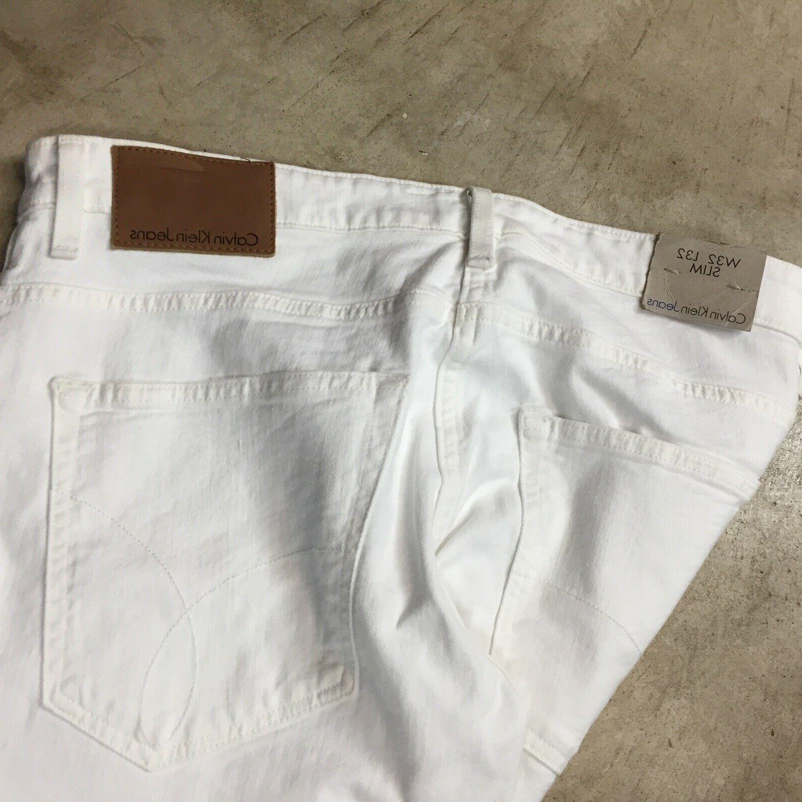 NEW jeans slim white distressed