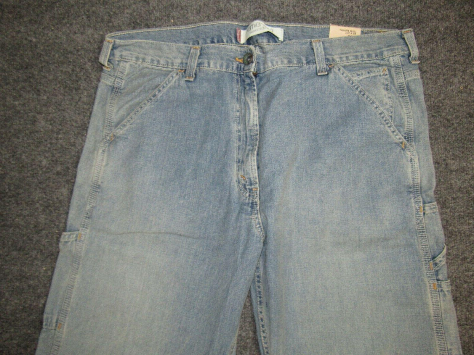 NEW MENS JEANS LOOSE FIT STRAIGHT LEG #1