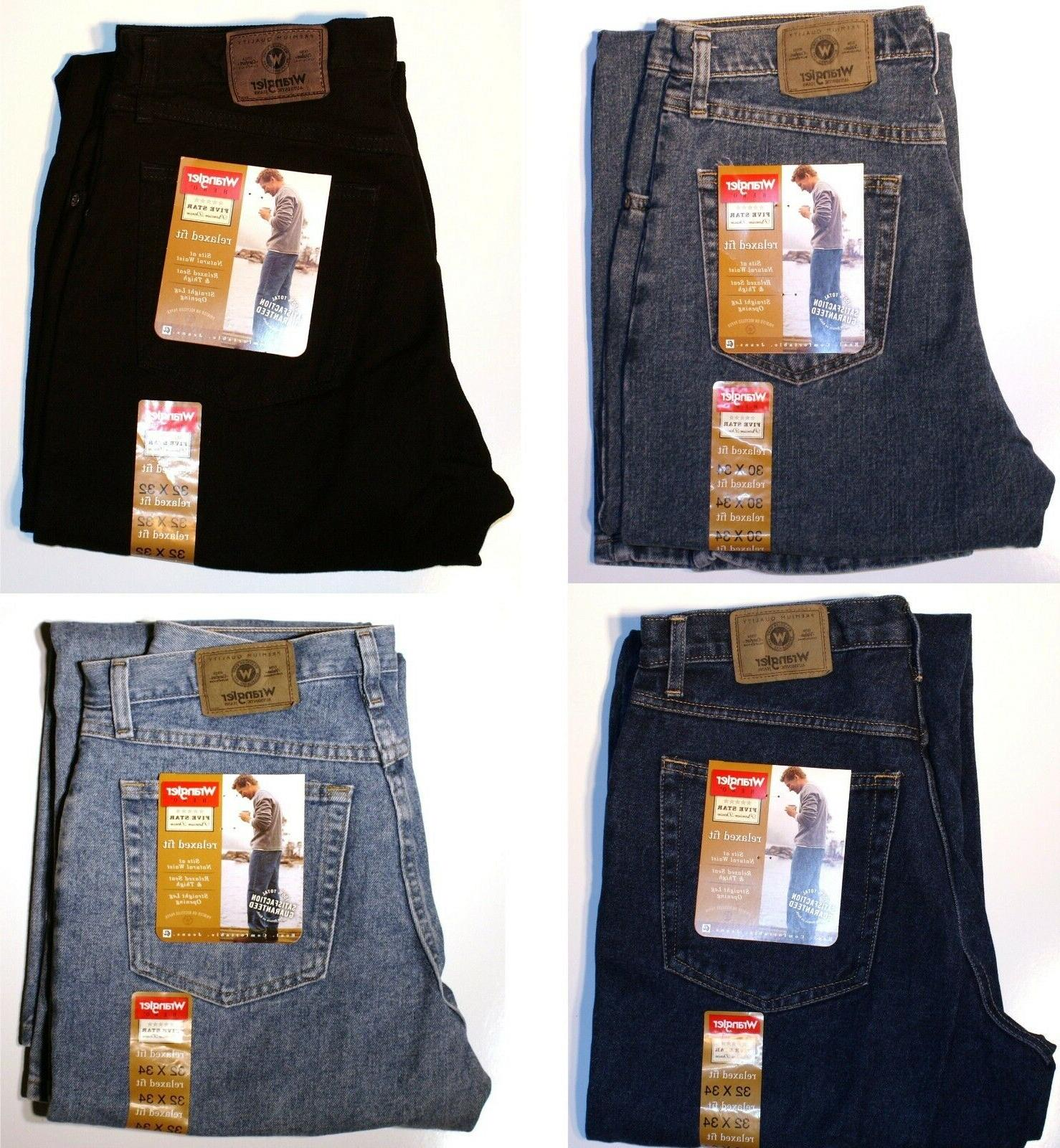 New Wrangler Five Star Relaxed Fit Jeans All Men`s Sizes Fou