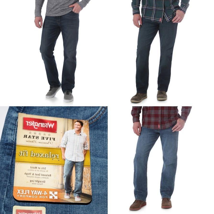 New Relaxed Jeans Flex Denim Bleached Men's