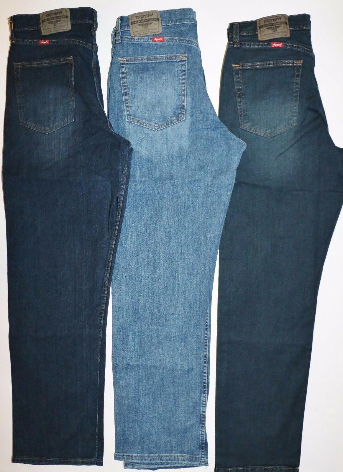 New Wrangler Relaxed Jeans with Denim Men's