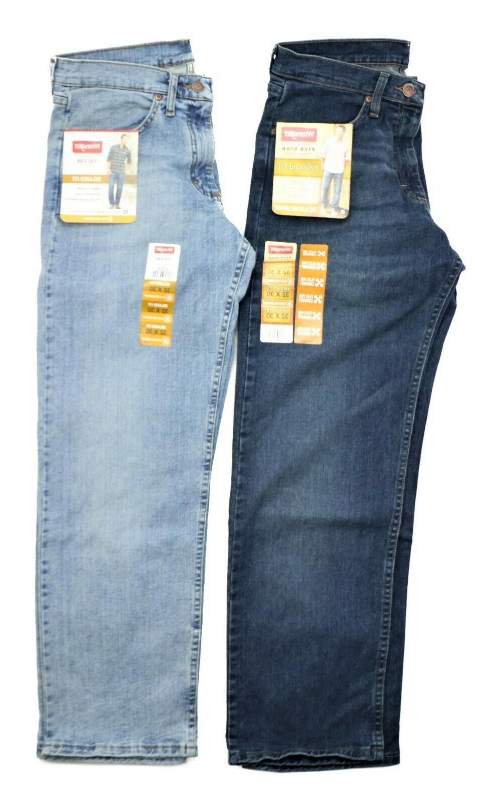 New Wrangler Relaxed Jeans Flex Denim Men's