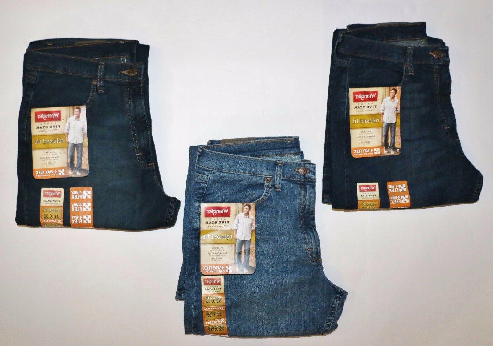 New Wrangler Jeans with Flex Dark Denim and Men's