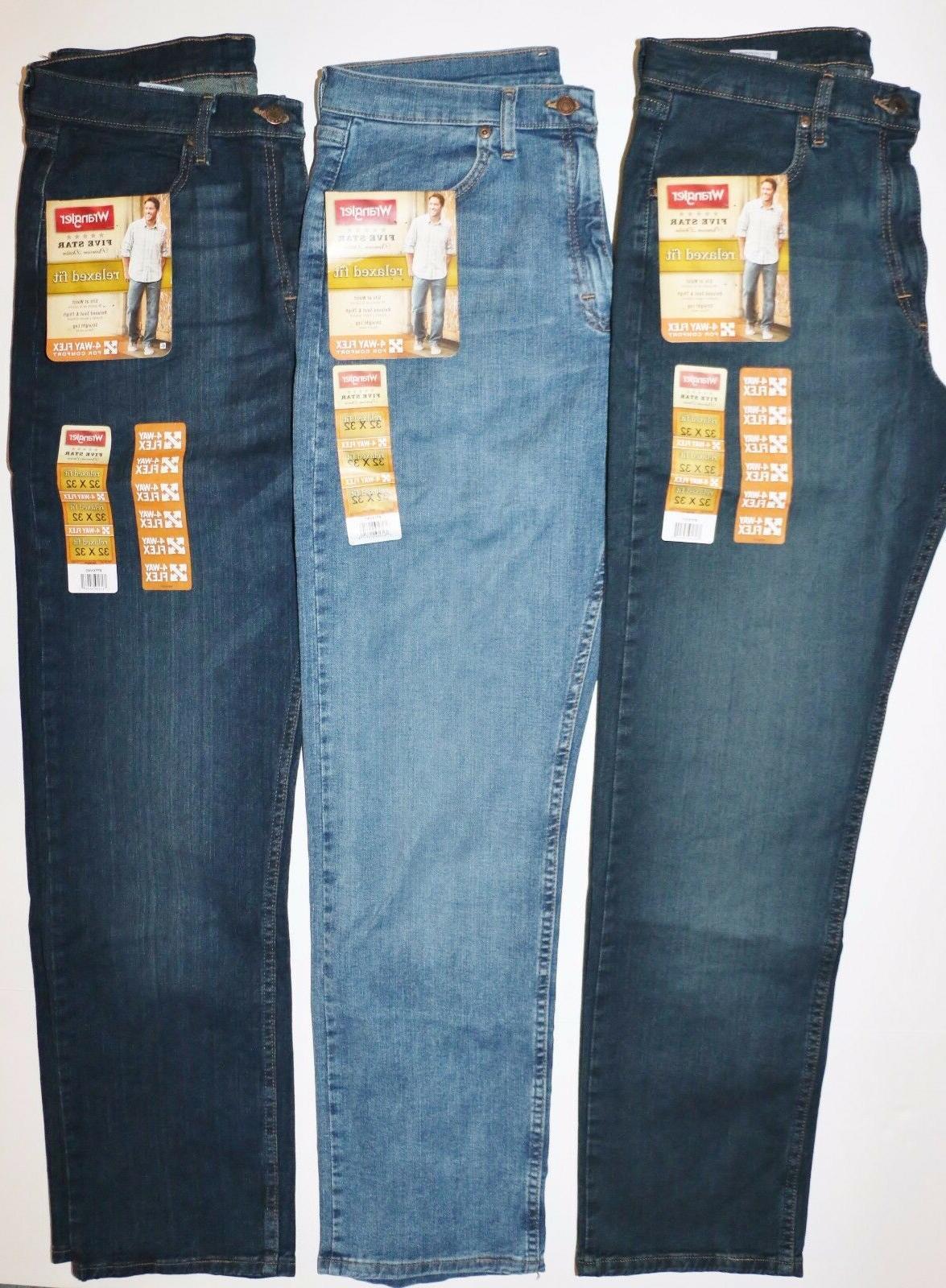 New Wrangler Relaxed Jeans Denim Men's