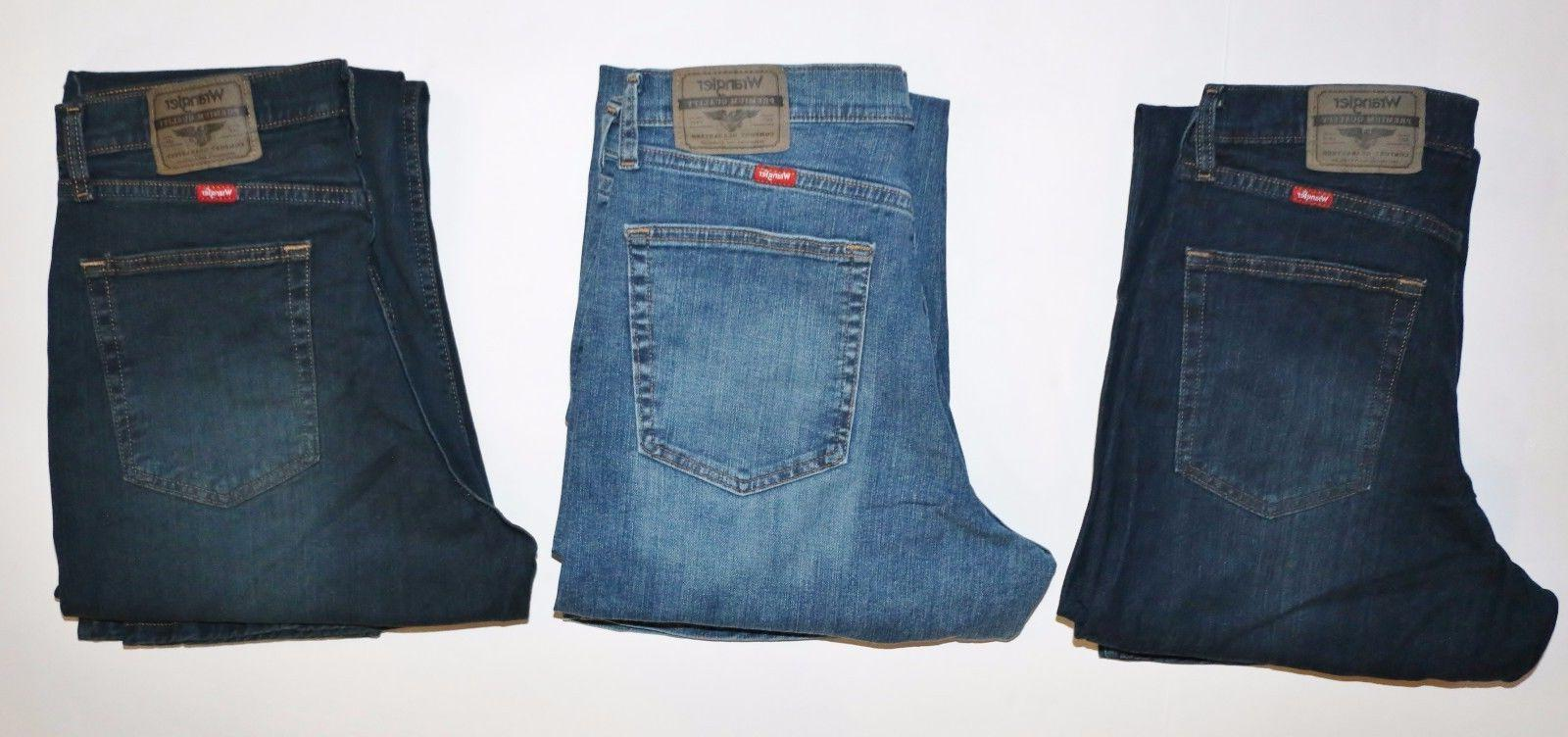 New Wrangler Fit Jeans with Denim and Men's