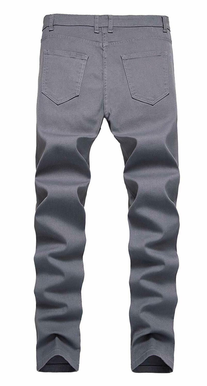 NITAGUT Men's Skinny Fit Stretch Straight Fashion Pants