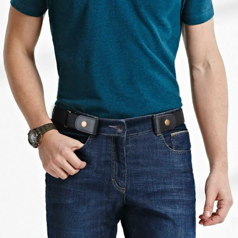 No Buckle for Buckle Stretch Belt for Jeans Pants 1.38
