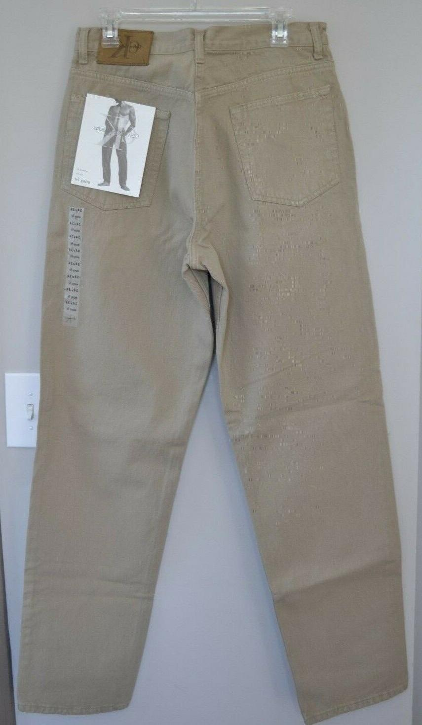 NWT 90's Men's Beige Calvin Klein Jeans 34x34 Relaxed Fit