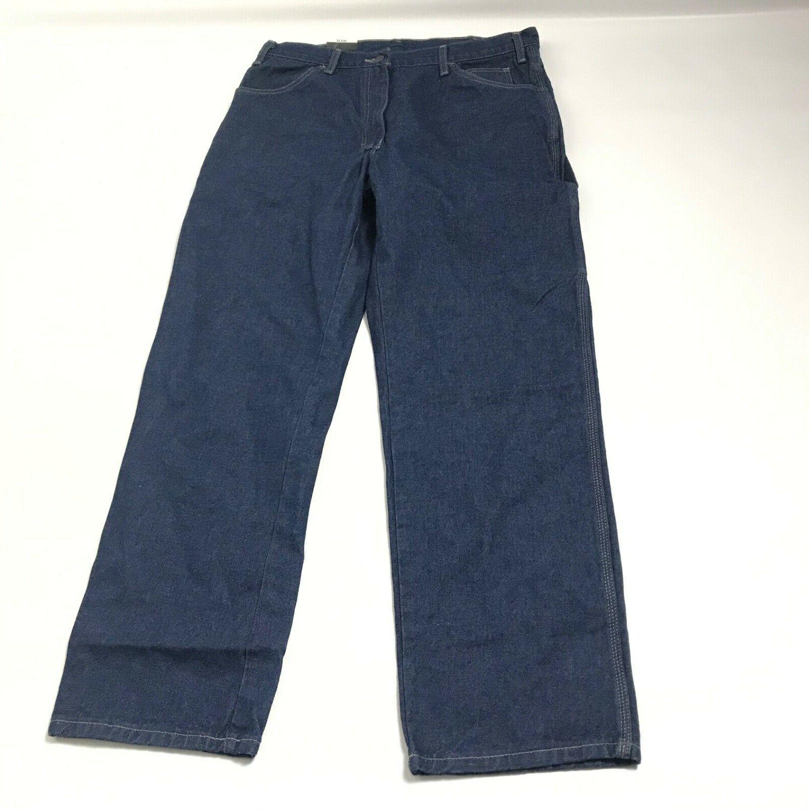 nwt industrial carpenter jeans rinsed indigo blue