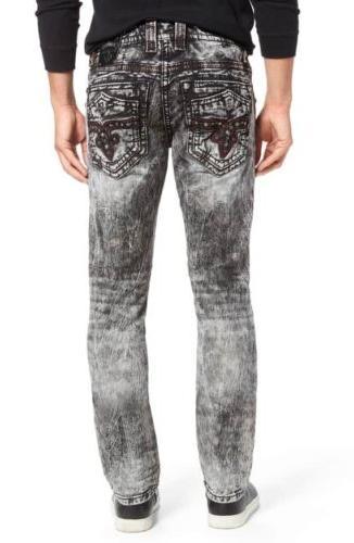nwt leotis alt straight leg jeans black