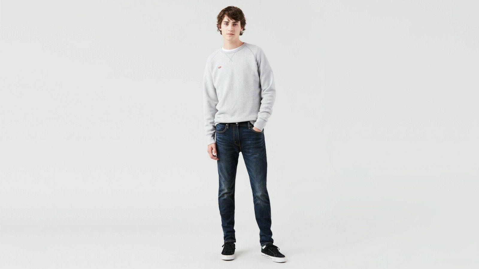 NWT Slim Fit Leg Jeans Stretch Denim Dark Blue