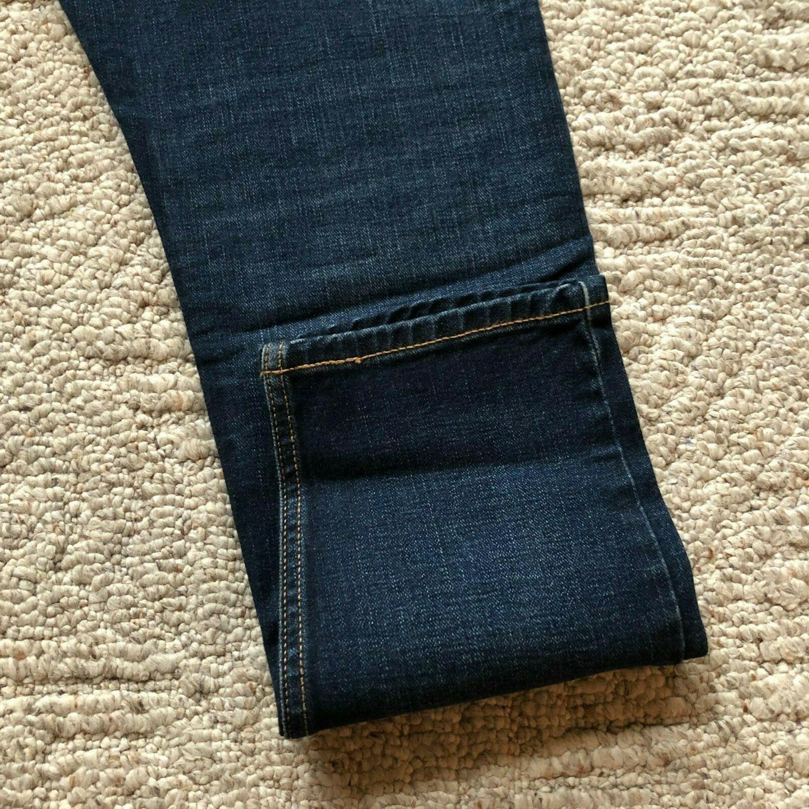NWT 512 Slim Fit Tapered Leg Jeans Denim Dark Blue