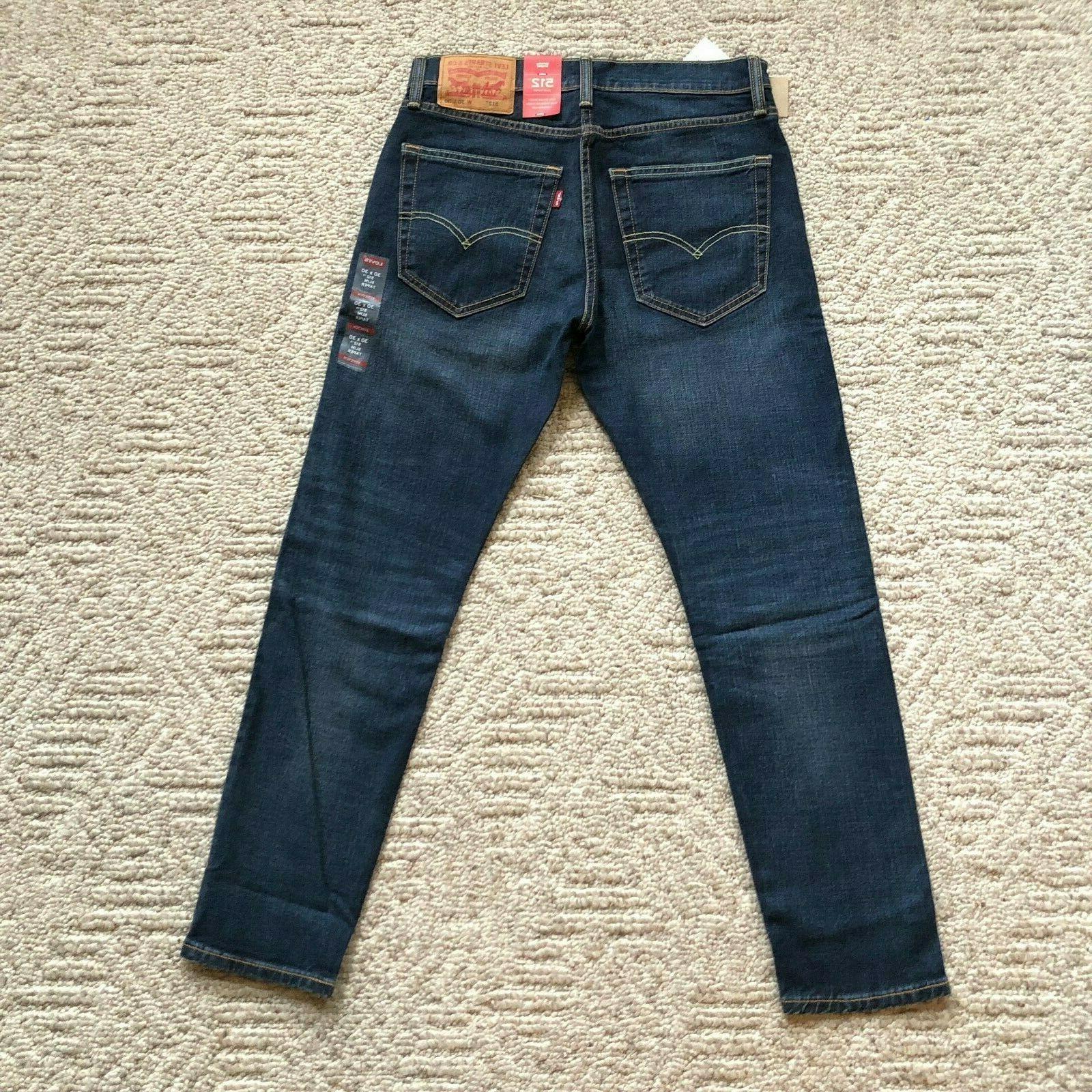 NWT Levi's 512 Slim Fit Tapered Leg Jeans Denim Pants