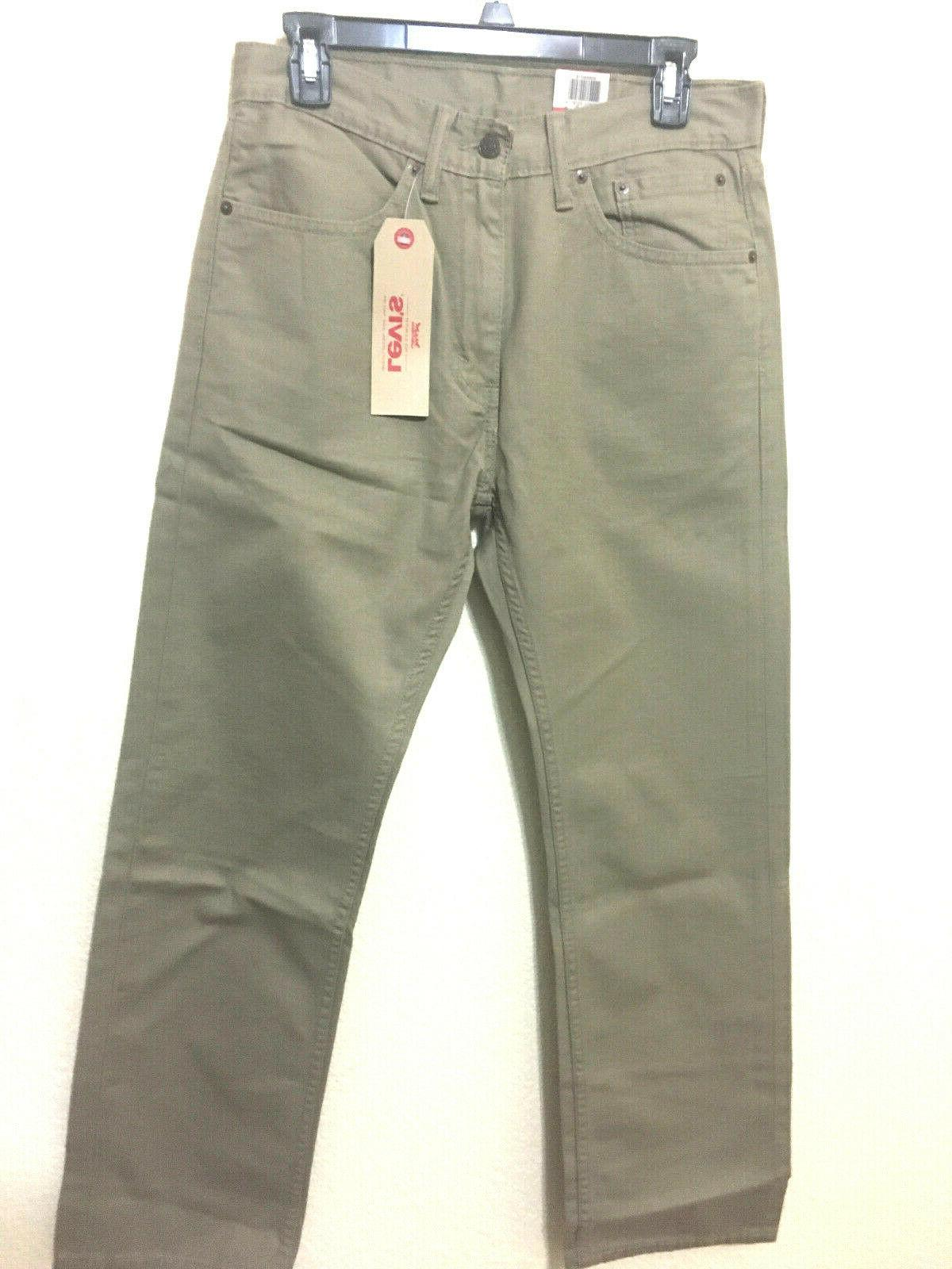 NWT MEN LEVI'S 505 - 0718 REGULAR FIT STRAIGHT LEG JEANS PANT DENIM TIMBER