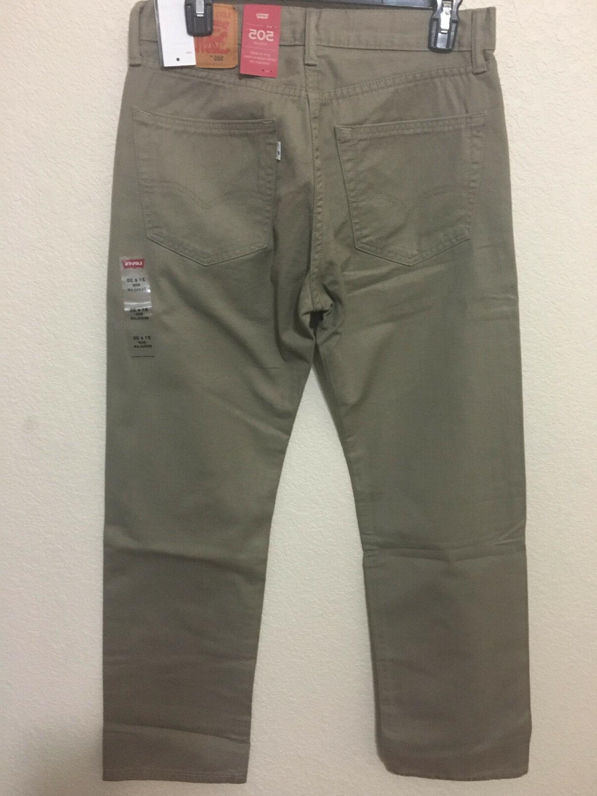NWT MEN - 0718 REGULAR STRAIGHT LEG PANT DENIM TIMBER WOLF