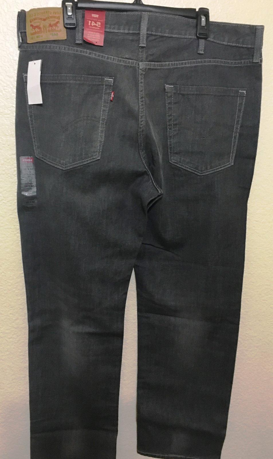 NWT MEN - 0021 STRAIGHT LEG JEANS DENIM CHARCOAL