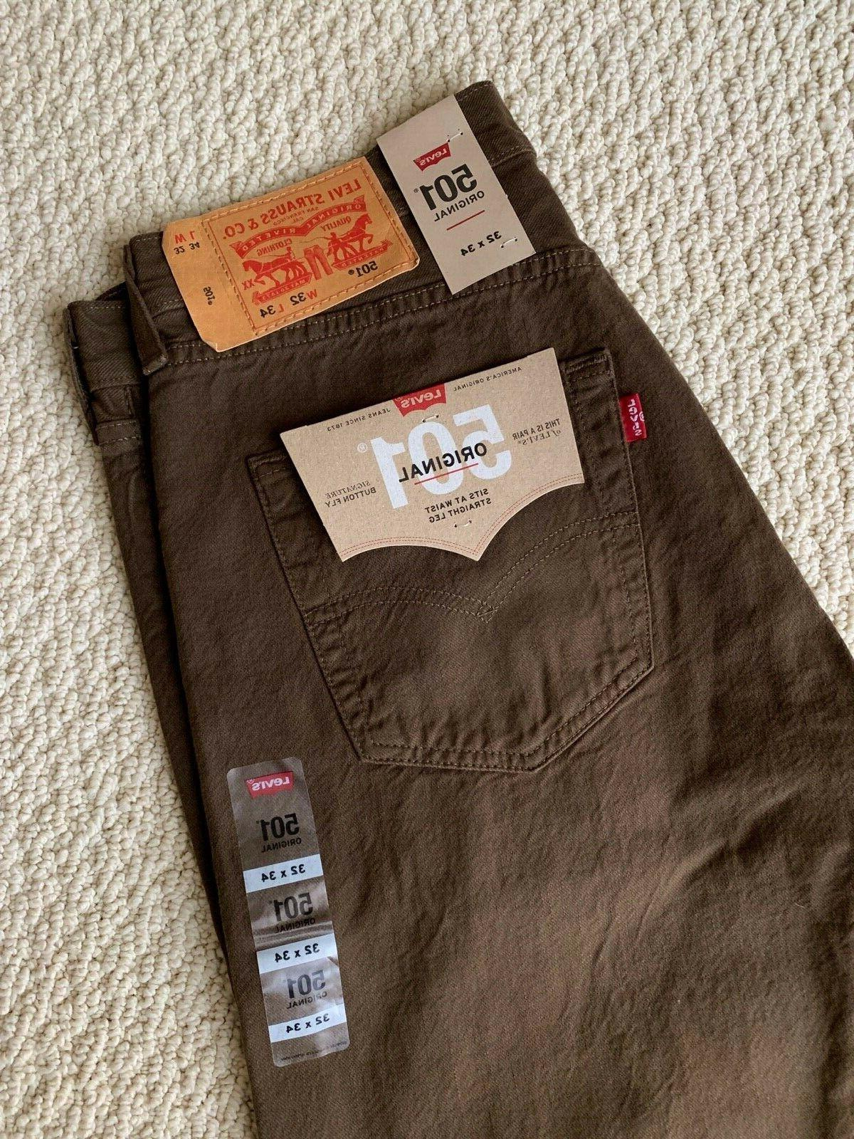 NWT Men's 501 Original Denim Straight Jeans SIZES