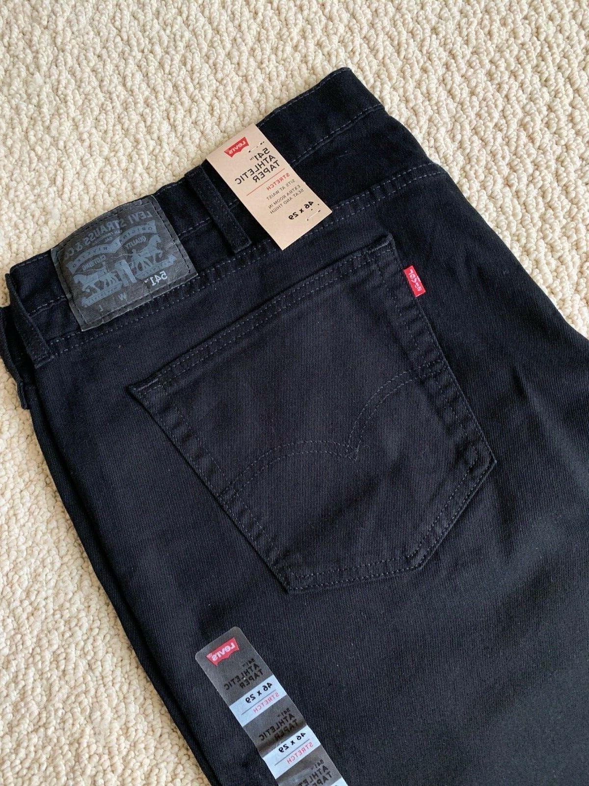 NWT Men's Athletic Taper Leg Stretch Denim Jeans SIZE