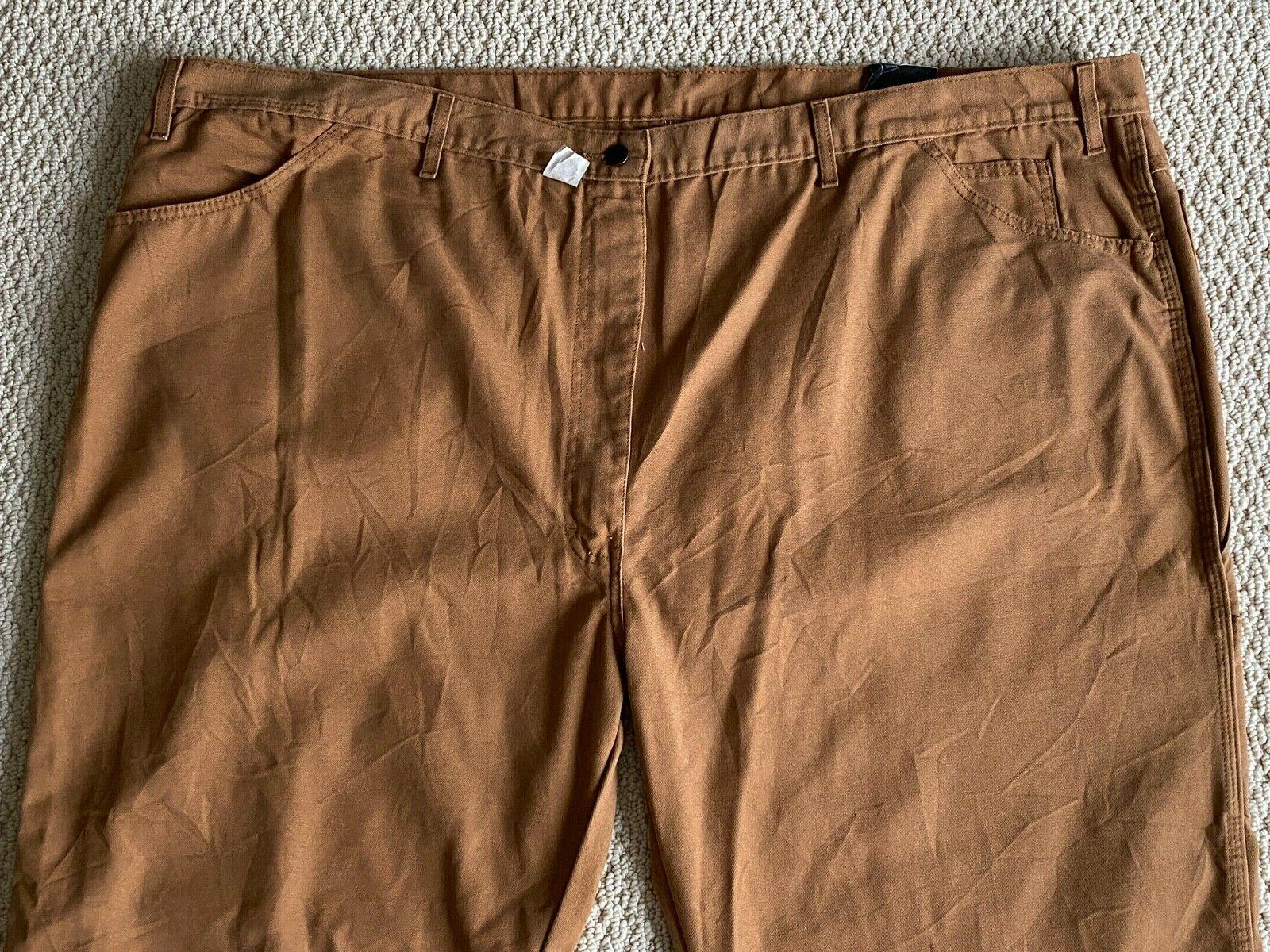 NWT Men's LU239 Relaxed Carpenter Brown Jeans Sz 54x30
