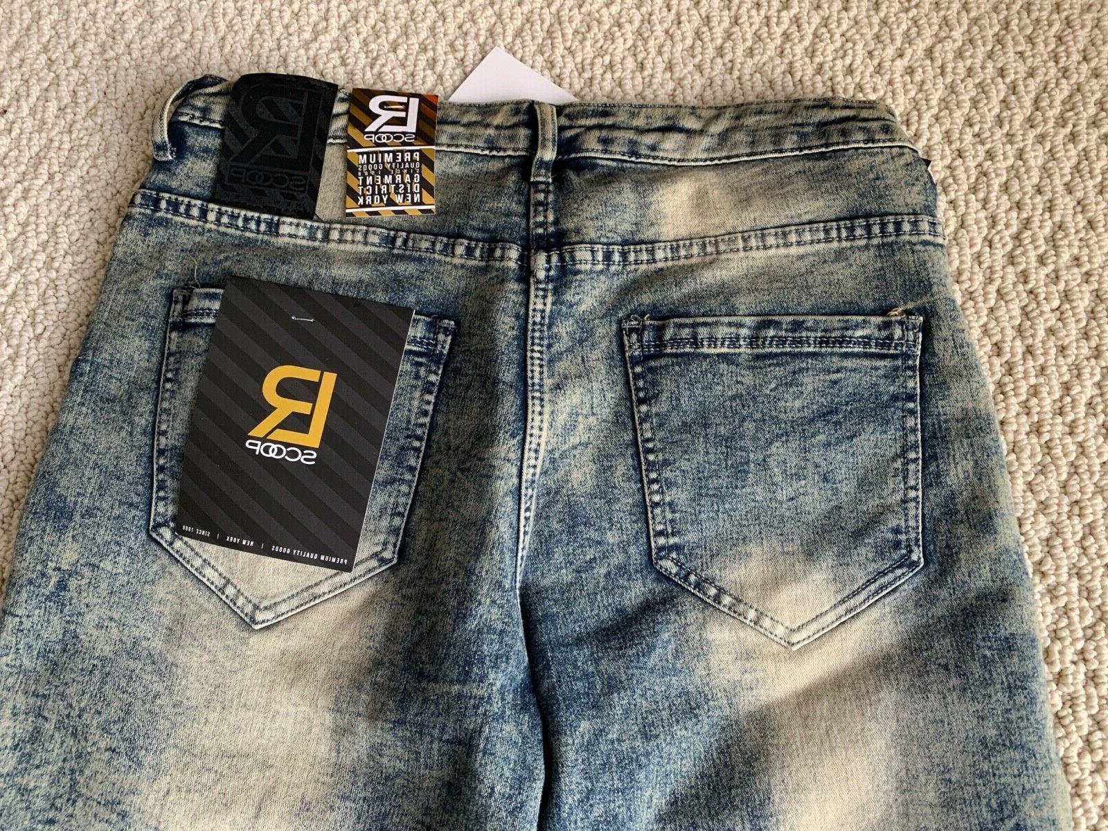 NWT Men's LR Scoop MHS80 Acid Jean Shorts 32-36