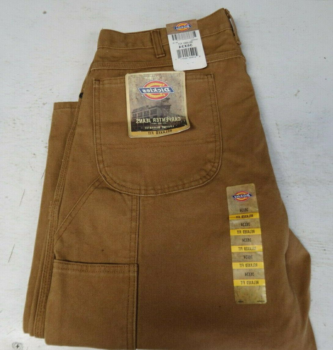 nwt mens carpenter jeans pants relaxed brown