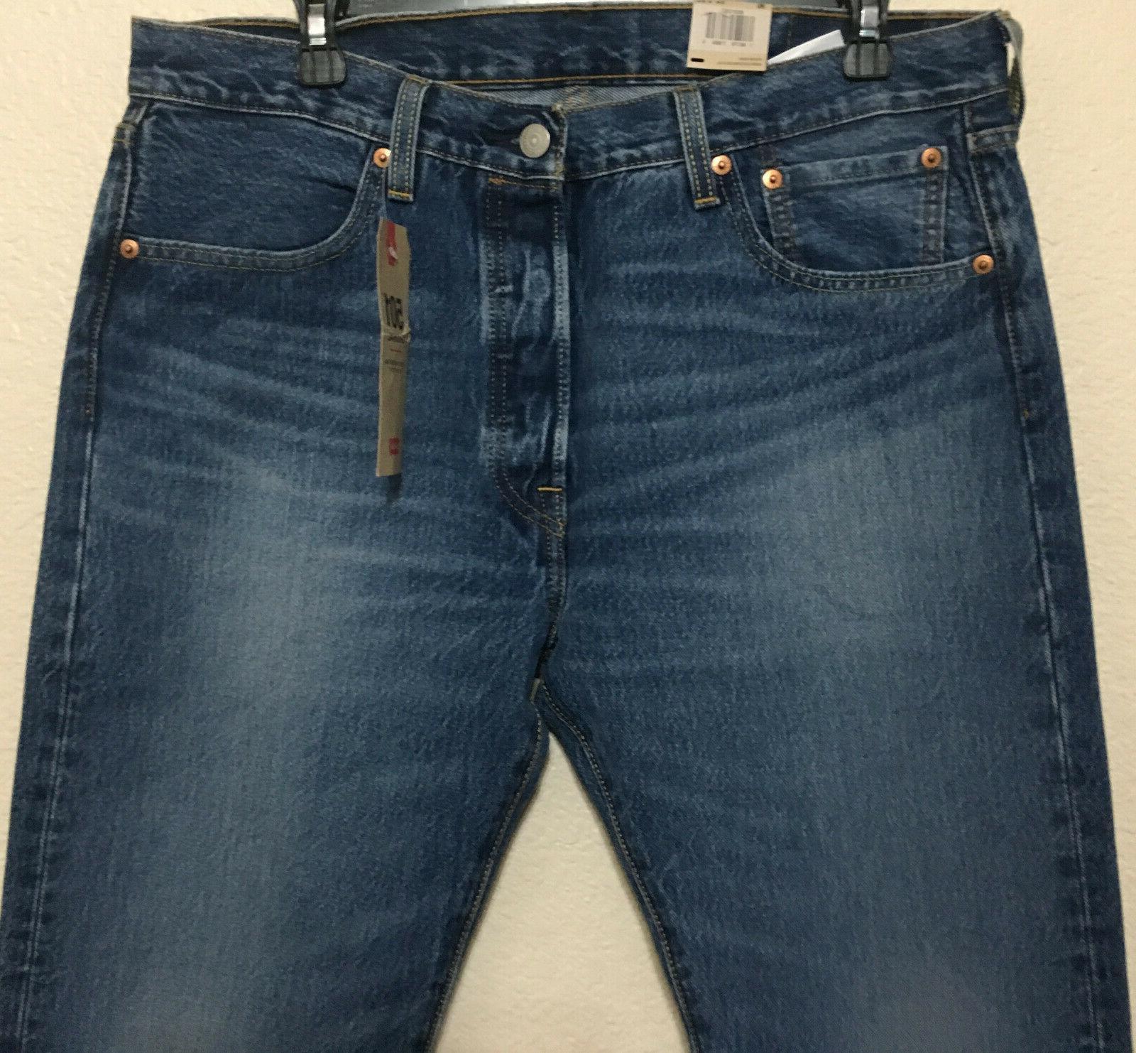 NWT LEVI'S 501 -2487 STRAIGHT BLUE $70