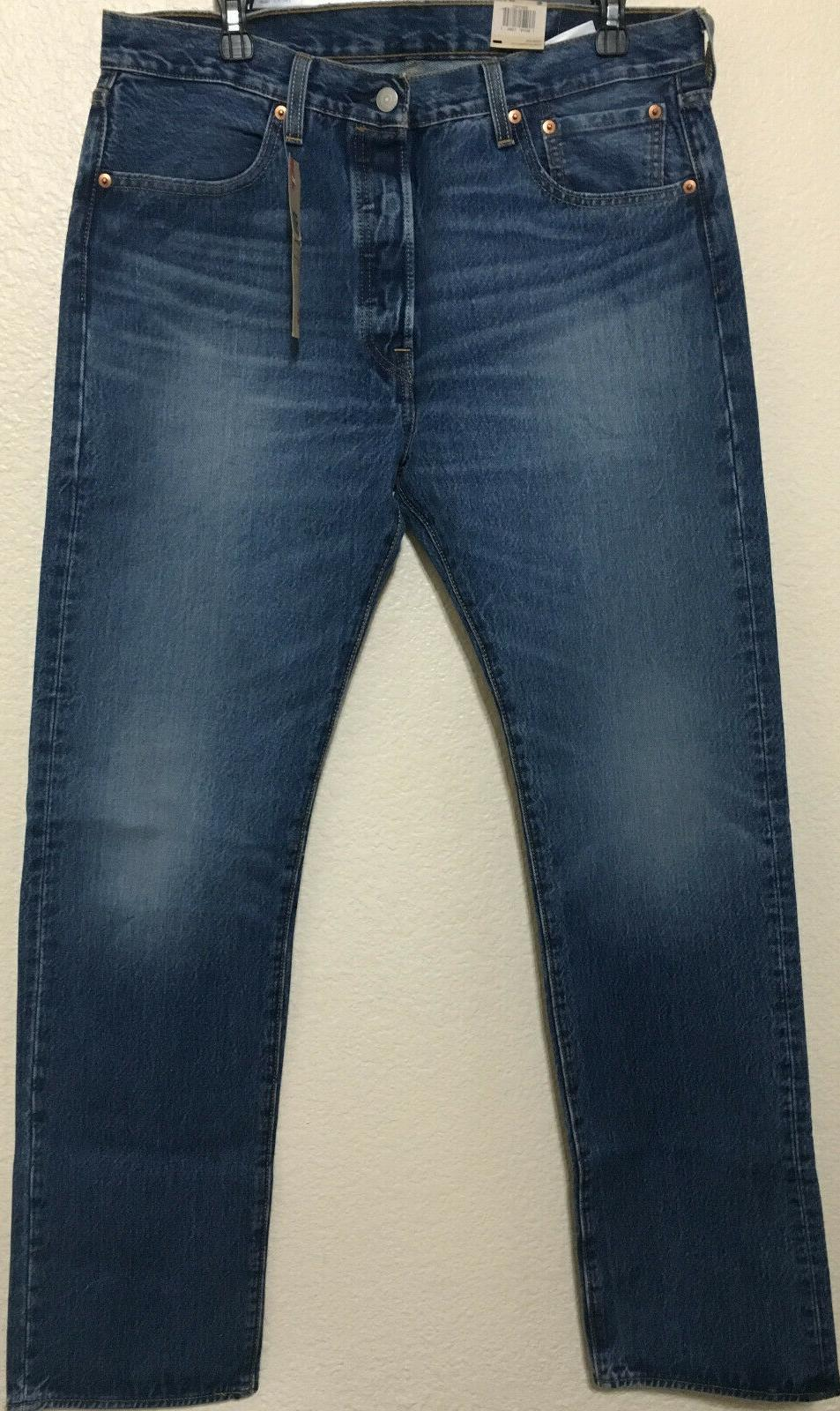 NWT 501 -2487 BUTTON STRAIGHT BLUE PANT $70