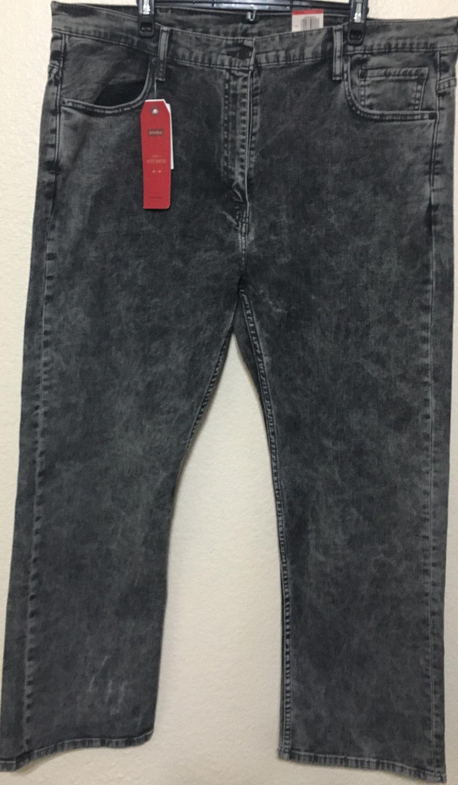 NWT MENS LEVI'S 0243 STRETCH JEANS PANT CHARCOAL DENIM