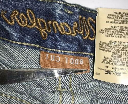 NWT Mens Retro Relaxed Fit Boot Cut Denim Blue Jeans 32 X 32
