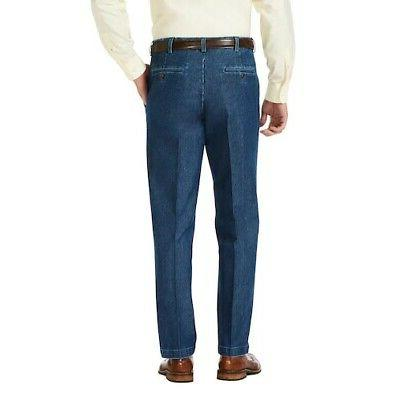 NWT Mens Size Haggar Classic Denim Blue Front
