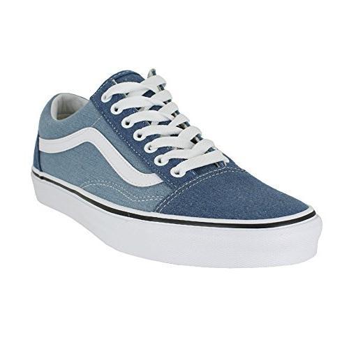 ee93e6a344 Vans Mens Old Skool Denim 2 Tone Blue