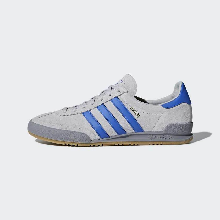 adidas Originals Jeans Mens Trainers Grey / Blue Leather Sho