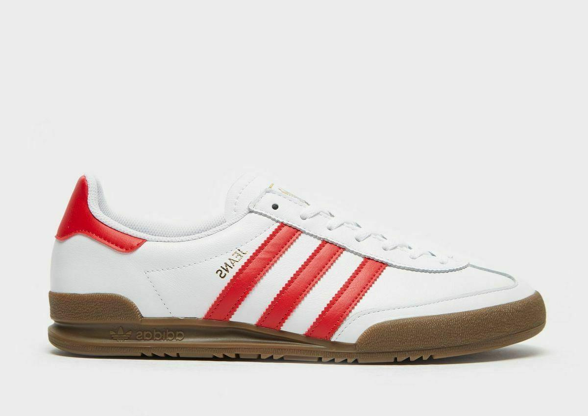 adidas Originals Jeans Mens Trainers White / Red Leather Sho
