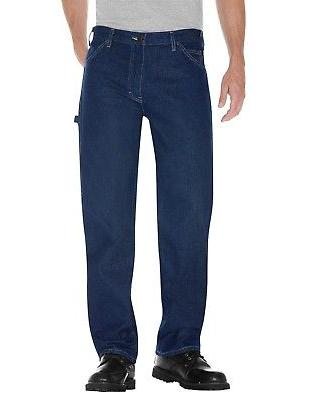 relaxed fit carpenter stonewashed indigo denim jeans