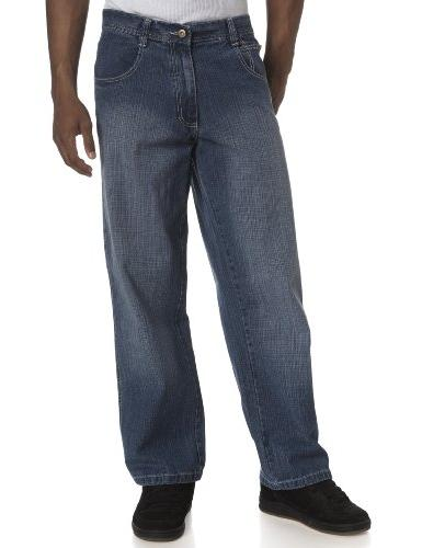 Southpole Mens 4180 Relaxed Fit Cross Hatch Sand Blast Denim