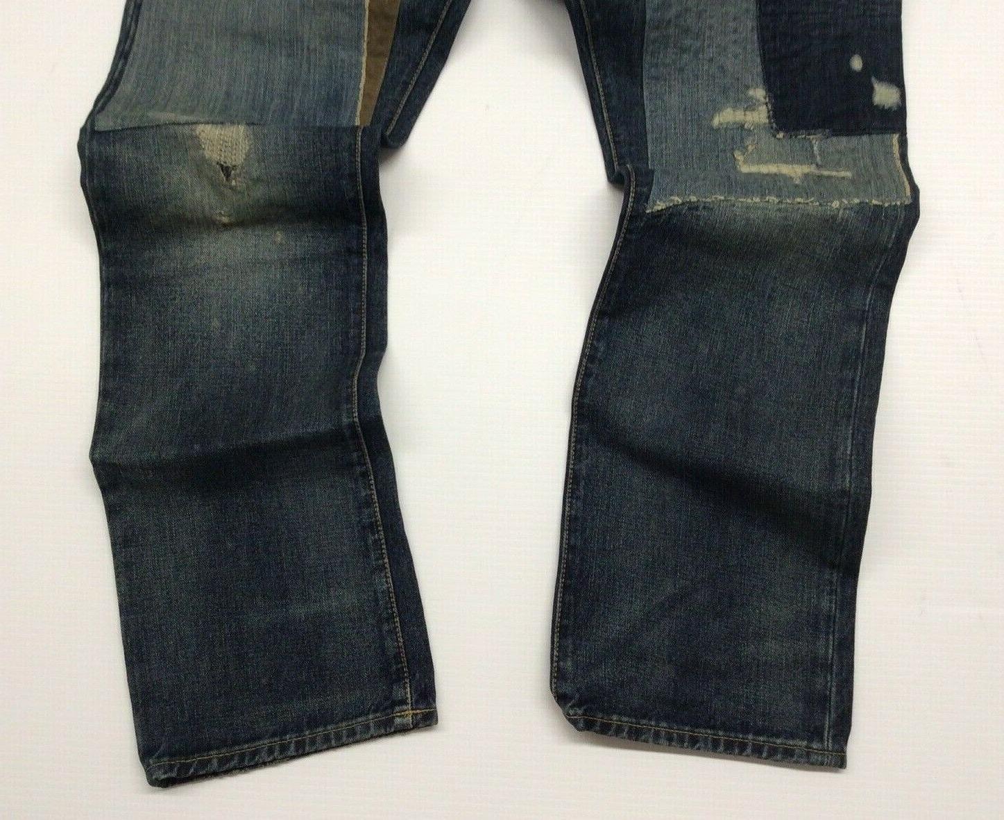 Polo Ralph Lauren Patchwork Shred Slim Straight Jeans