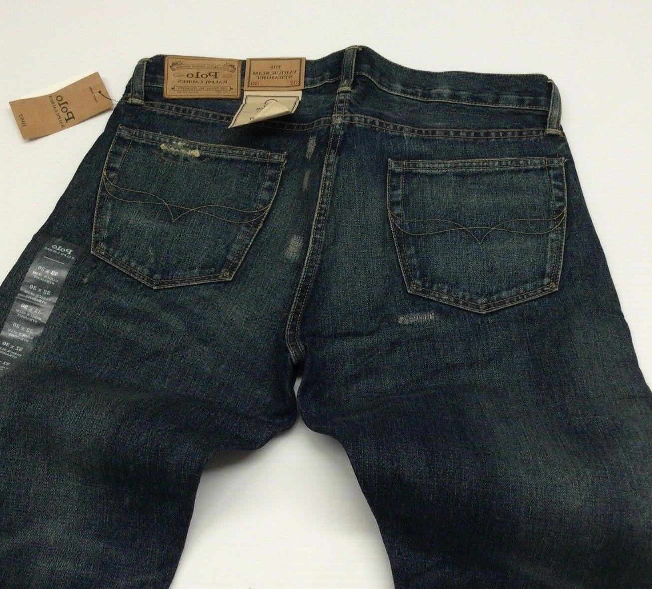 Polo Patchwork Distressed Slim Straight