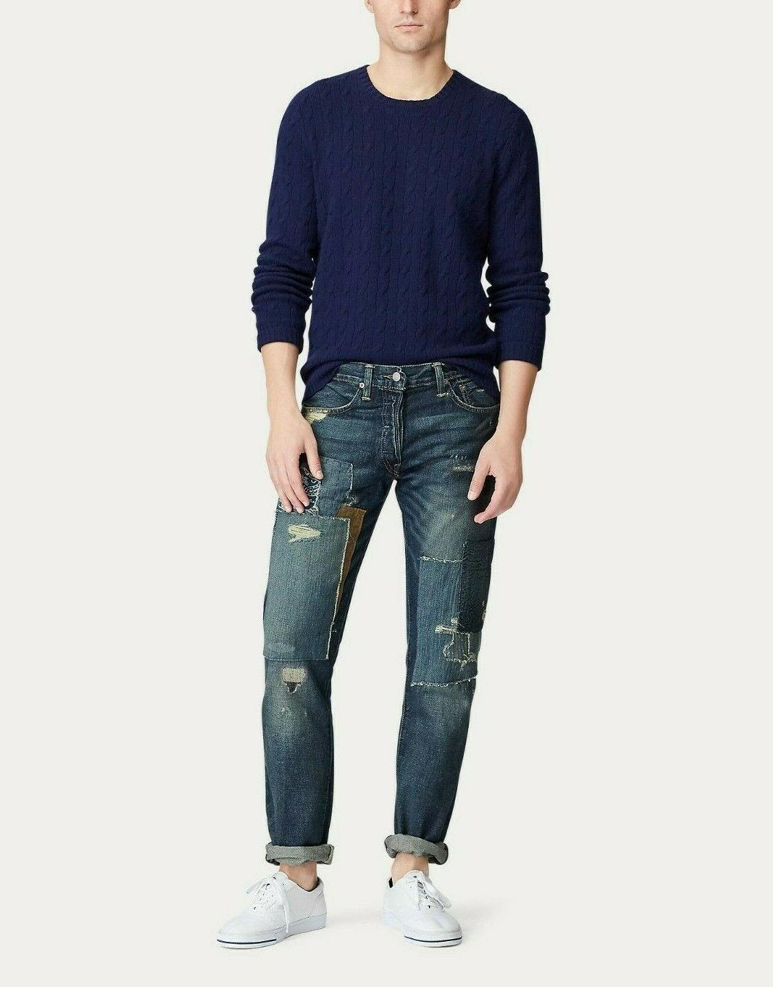 Polo Patchwork Slim Jeans