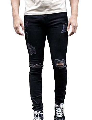 ripped distressed skinny jeans denim