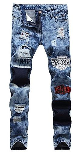 ripped skinny distressed destroyed zipper